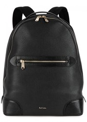 Paul Smith Black Grained Leather Backpack