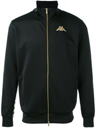 Kappa Zipped Logo Jacket Men Polyester S Black
