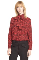 Marc By Marc Jacobs 'Strawberry Thief' Fencing Army Top Ruby Red Multi