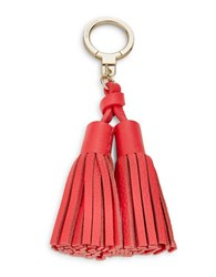Kate Spade Leather Double Tassel Keychain Crab Red