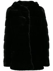 Liska Valencia Coat Women Mink Fur S Black