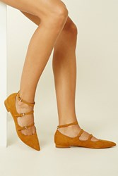 Forever 21 Faux Suede Strappy Flats