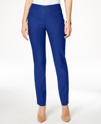 Charter Club Petite Tummy Control Slim Leg Pants Only At Macy's Modern Blue