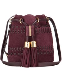 See By Chloe Vicki Small Suede And Leather Bucket Bag Purple