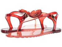 Coach Tea Rose Jelly Sandal Peony Wine Sandals Red