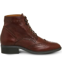 Office Limerick Brogue Lace Up Boot Brown Leather