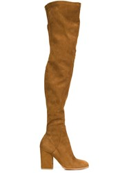 Alexa Wagner 'Domino' Tall Boots Brown