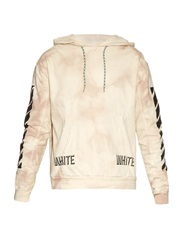 Off White 3 D Tie Dye Hooded Cotton Jersey Sweatshirt