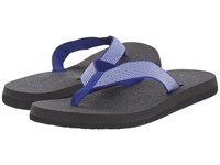 Sanuk Yoga Mat Webbing Deep Blue Off White Women's Sandals