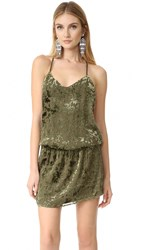 Haute Hippie Mirage Mini Dress Military
