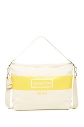 Hunter Graphic Canvas Crossbody Yellow