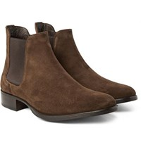 Tom Ford Suede Chelsea Boots Chocolate