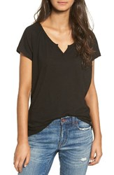 Madewell Women's Choral Split Neck Tee True Black