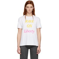 6397 White 'Rave On Liberty' Boy T Shirt