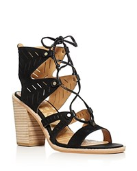 Dolce Vita Luci Lace Up High Heel Sandals Black