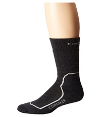 Icebreaker Hike Heavy Crew 1 Pair Pack Jet Heather Twister Heather Black Men's Crew Cut Socks Shoes