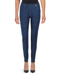 Michael Michael Kors Petite Chambray Jeggings Blue Indigo