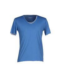 Alpha Studio Topwear T Shirts Men Azure