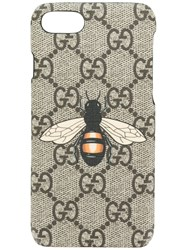 Gucci Gg Supreme Bee Phone Case Nude And Neutrals