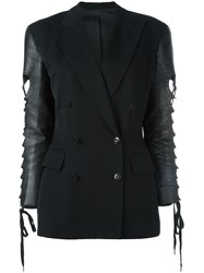 Jean Paul Gaultier Vintage Contrast Sleeves Jacket Black