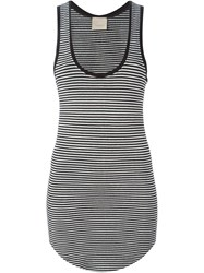 Laneus Striped Tank Top Black