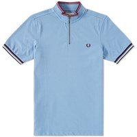Fred Perry Bradley Wiggins Tipped Cycling Shirt Blue