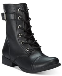American Rag Faylln Combat Booties Only At Macy's Women's Shoes Black