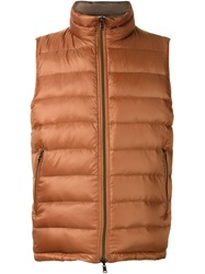 Herno Reversible Padded Gilet Brown