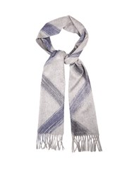 Colombo Cashmere Hand Painted Scarf Grey Multi