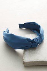 Anthropologie Knotted Chiffon Headband Turquoise