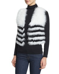Neiman Marcus Cashmere Collection Fox Fur Cropped Vest Women's