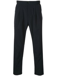 Attachment Cropped Tailored Trousers Blue