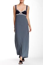 Vpl Insertion Narrow Maxi Dress Gray