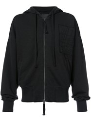 Thom Krom Patch Zip Hoodie Men Cotton Xl Black