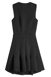 Carven Dress With Pleated Skirt Black