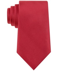 Geoffrey Beene Solid Sateen Tie Red