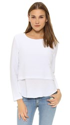 Generation Love Sammy Layered Long Sleeve Top White