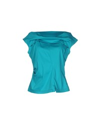 Oblique Shirts Blouses Women Green