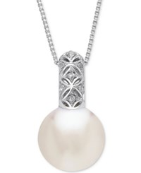 Honora Style Cultured White Ming Pearl 13Mm 18 Pendant Necklace In Sterling Silver