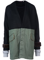 Harvey Faircloth Panelled Jacket Black