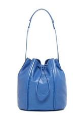 Christopher Kon The Edge Leather Bucket Bag Blue