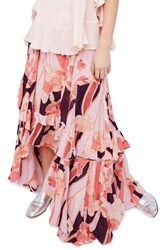 Free People Women's Bring Back The Summer Maxi Skirt Pink