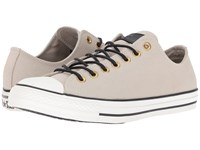 Converse Chuck Taylor All Star Leather Corduroy Lo Frayed Burlap Egret Black Athletic Shoes Beige