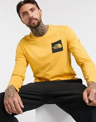The North Face Fine Long Sleeve T Shirt In Yellow