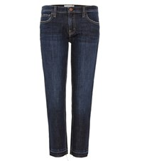 Current Elliott The Cropped Straight Jeans Blue