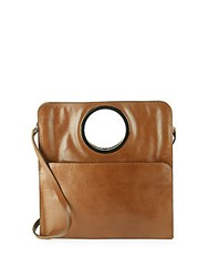 Halston Leather Shoulder Bag Cognac