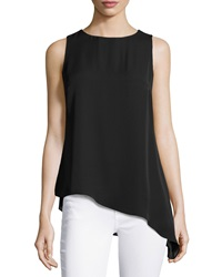 Laundry By Shelli Segal Asymmetric Sleeveless Tunic Optic White