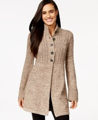 Styleandco. Style And Co. Marled Button Front Sweater Coat Only At Macy's Rye