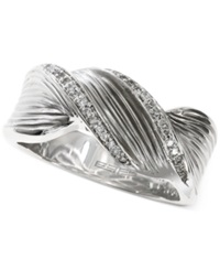 Effy Collection Balissima By Effy Twisted Diamond Ring 1 6 Ct. T.W. In Sterling Silver