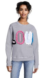 Michaela Buerger Love Striped Sweatshirt Black White